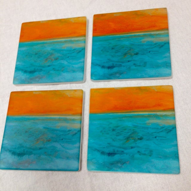 "Ocean Inspired Coasters, ""DayDream"" Sandstone - 4 - Image 5 of 6"