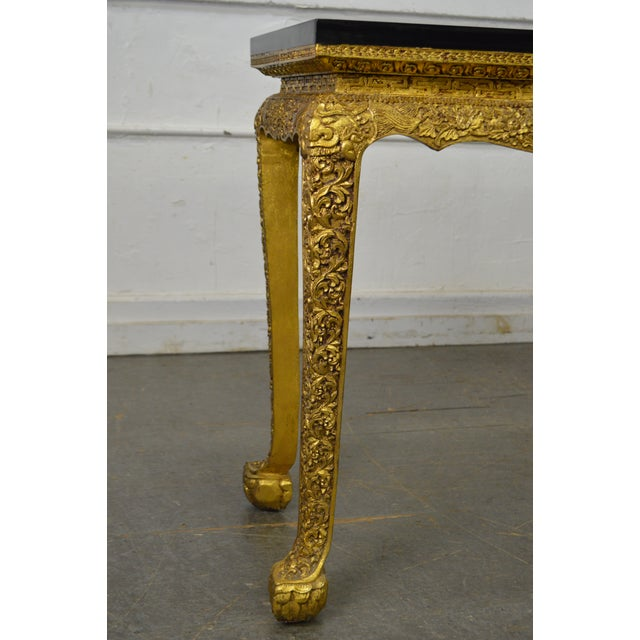 Georgian Style Carved Gilt Console Table by Manheim Weitz - Image 5 of 13