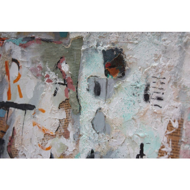 Ralph De Burgos Mixed-Media Abstract Collage For Sale - Image 9 of 12