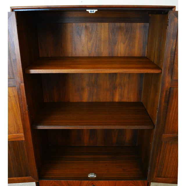 Mid Century Jack Cartwright for Founder's Furniture Walnut Armoire For Sale In Las Vegas - Image 6 of 13