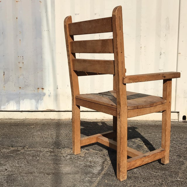 1990s Hand-Made Rustic Chair For Sale In Los Angeles - Image 6 of 10