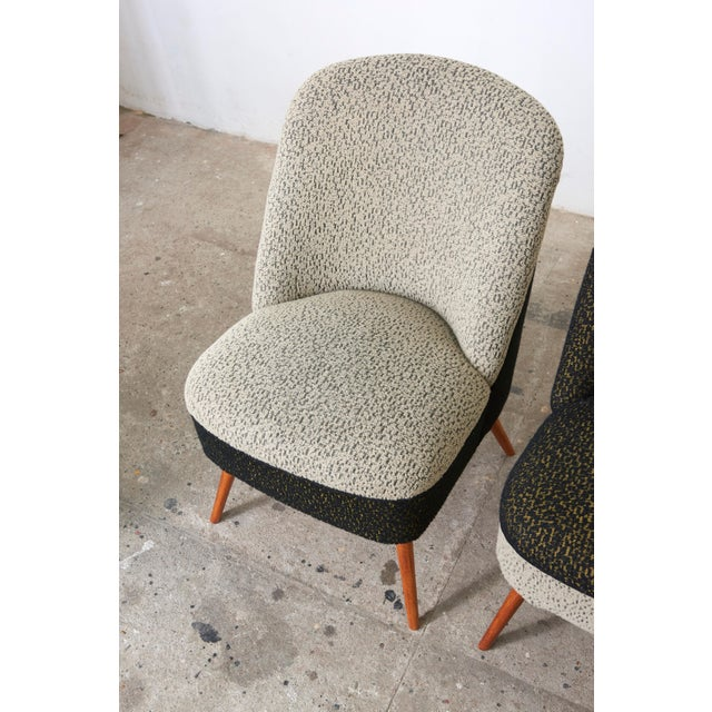 Black and White Coctail Club Chairs ,1950s For Sale - Image 6 of 8