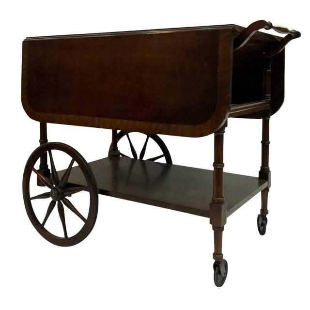 Walter of Wabash Drop-Leaf Bar Cart - Image 1 of 10