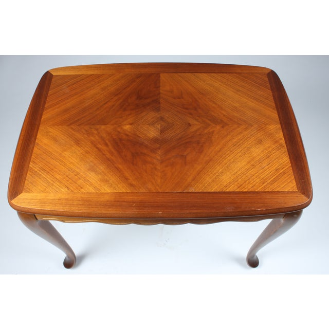Scalloped Mahogany End Table - Image 3 of 3