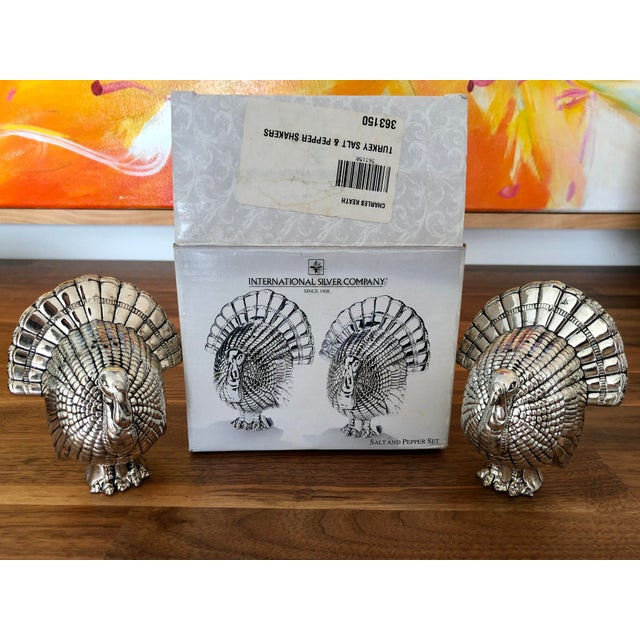 Vintage Silver Turkey Salt & Pepper Shakers - a Pair For Sale In Charlotte - Image 6 of 7