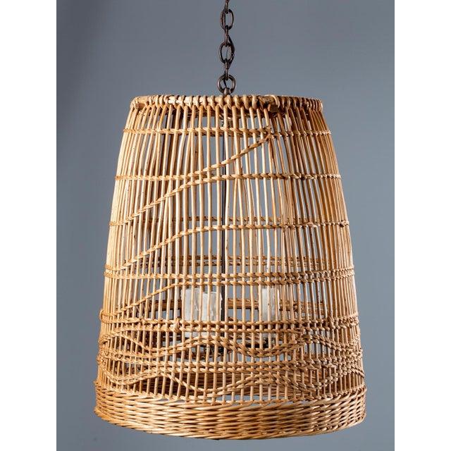 Vintage French Basket Chandelier Light Fixture Circa 1920 For Sale - Image 13 of 13