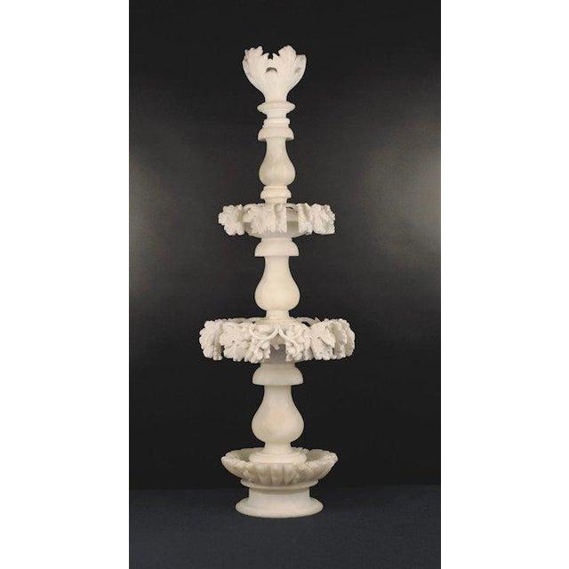 Baroque 1960s Carved Alabaster Epergne For Sale - Image 3 of 9