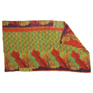 Vintage Indian Kantha Twin Sized Quilt