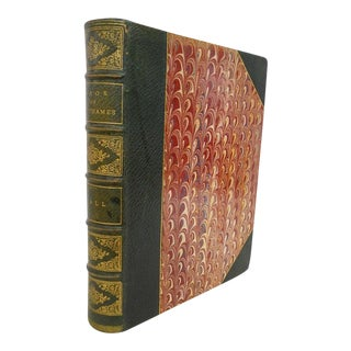 Late 19th Century Antique English Green Leather Book of the Thames by Mr. & Mrs. S. C. Hall For Sale