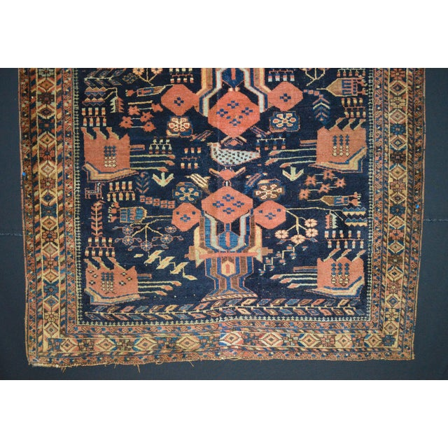"Antique Persian Rug - 4'5"" x 4'10"" - Image 4 of 7"