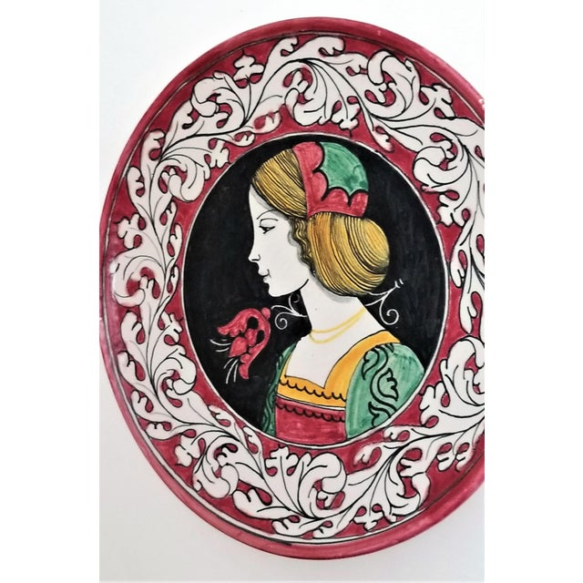Blue 1950s Vintage Italian Majolica Ceramic Wall Plaques by Giacomini Orvieto For Sale - Image 8 of 13