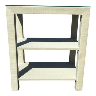 Seagrass Covered Parsons Table