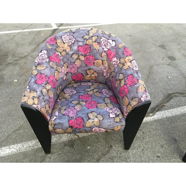 1990s Post Modern Club Chairs - a Pair For Sale In Los Angeles - Image 6 of 10