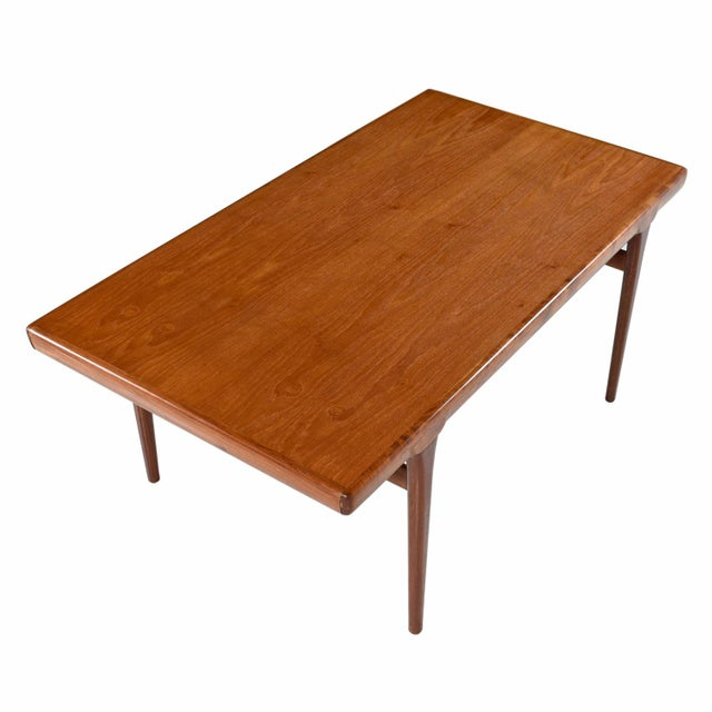 Large Scandinavian Modern Teak Draw Leaf Expanding Dining Table, circa 1960's For Sale - Image 5 of 7