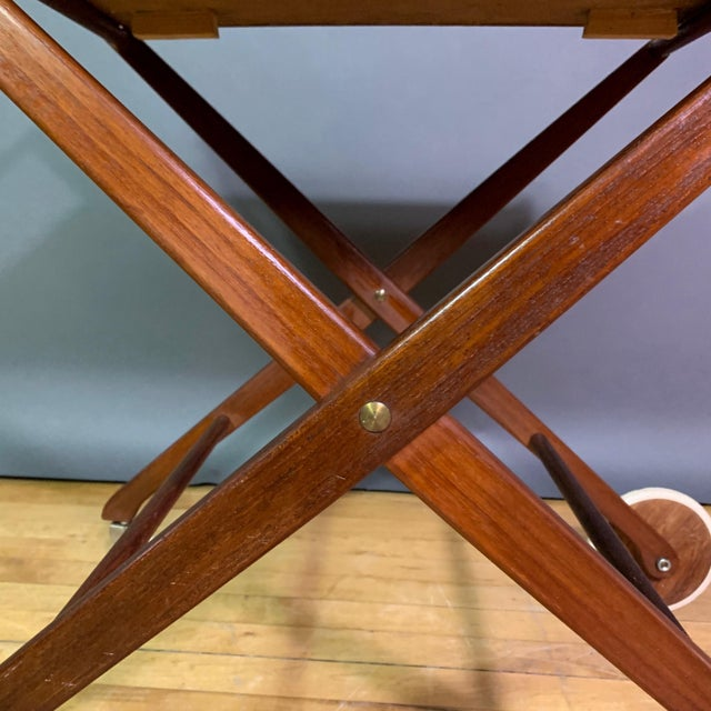 1970s 1970s Teak and Black Laminate Serving Trolley For Sale - Image 5 of 12
