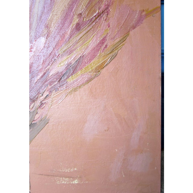 1970s Vintage Suzanne Peters Abstract Untitled Bird Painting For Sale In Chicago - Image 6 of 12