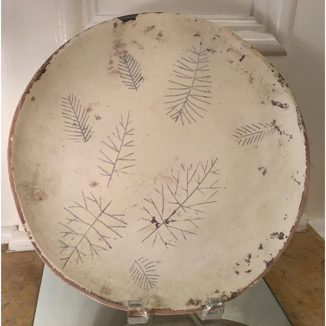 Mid-Century Modern Rare Sascha Brastoff Artist's Collection Un-Fired Modernist Snowflake Plate For Sale - Image 3 of 4