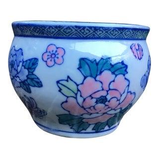 1960s Vintage Chinoiserie Garden Planter Pot For Sale