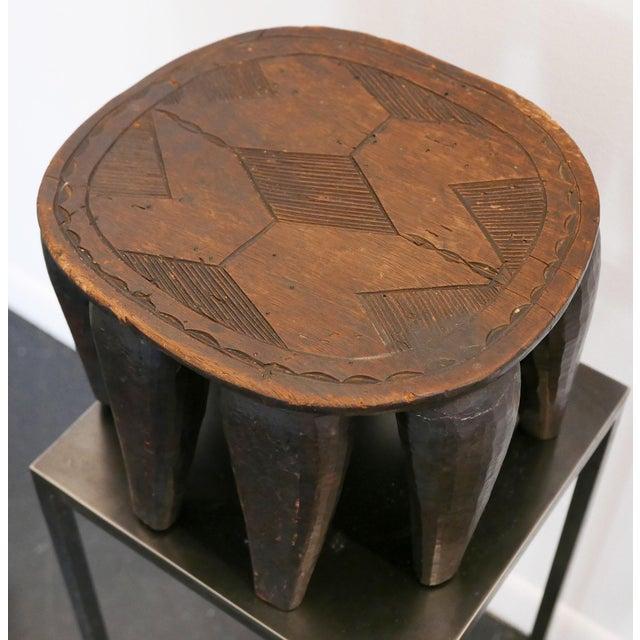 Wood Nigerian Nupe Stool For Sale - Image 7 of 7