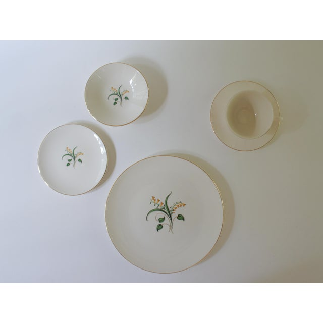 1960s Vintage Knowles Forsythia Dinnerware Service Set - 44 Pieces For Sale - Image 4 of 13