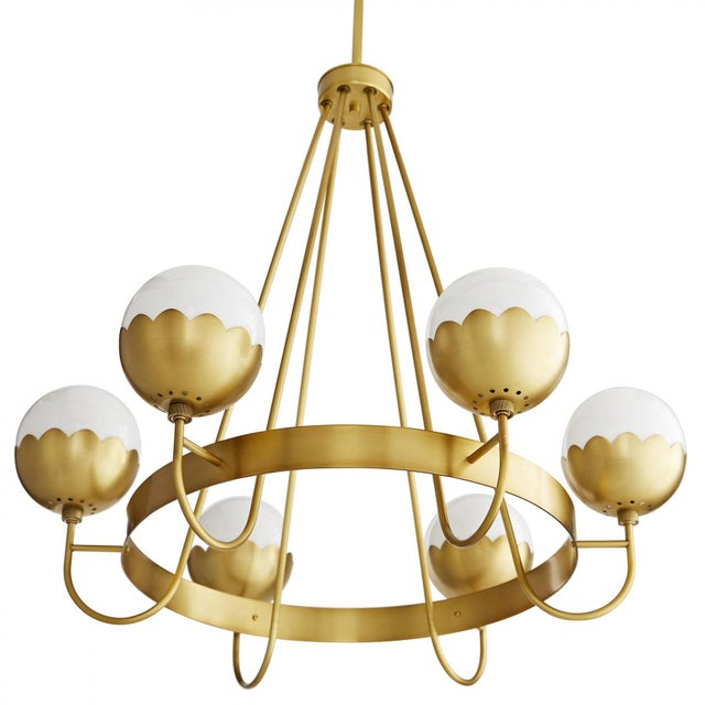 Not Yet Made - Made To Order Celerie Kemble for Arteriors Cleo Chandelier For Sale - Image 5 of 12