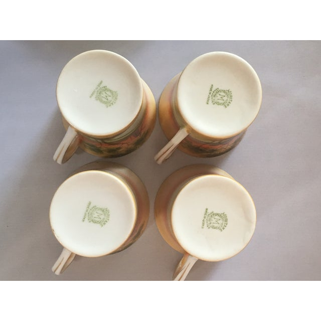 Handpainted Noritake Windmill Scene Cups & Saucers - Set of 4 For Sale In Charlotte - Image 6 of 11