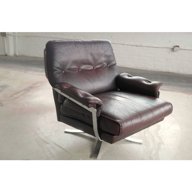 Arne Norell Hand-Stitched Leather Lounge Chair - Image 2 of 10