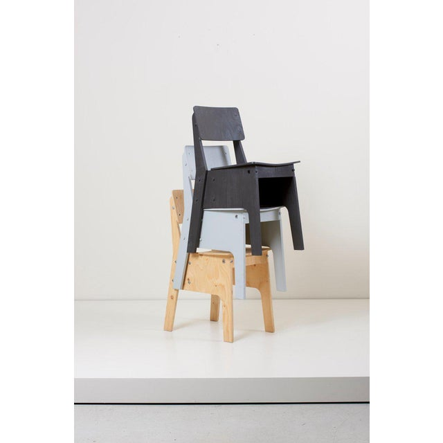 Mid-Century Modern 1 of 3 Crisis Chairs by Piet Hein Eek in Plywood For Sale - Image 3 of 13