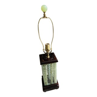 Chinese Abacus Jade Lamp For Sale