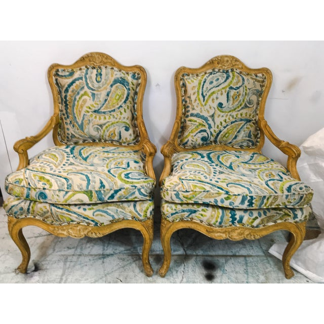 Pair of French Style Chairs For Sale - Image 5 of 9
