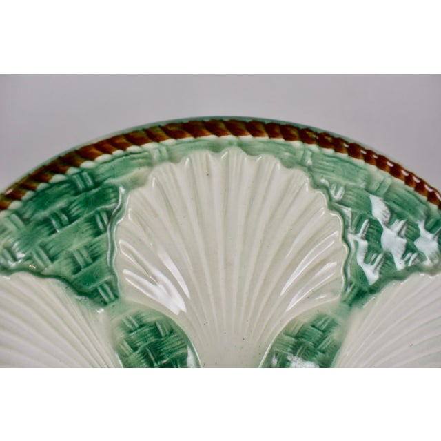 St. Clément French Basketweave & Rope Oyster Plate - Image 5 of 7