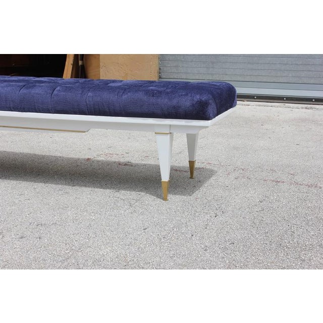 1940s French Art Deco White Lacquered Bench - Image 8 of 10