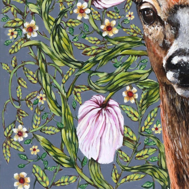 """Deer"" Original Artwork by Naomi Jones For Sale - Image 4 of 9"