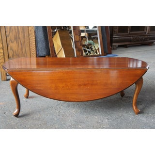 20th Century Queen Anne Hammary Solid Cherry Drop Leaf Coffee Table Preview