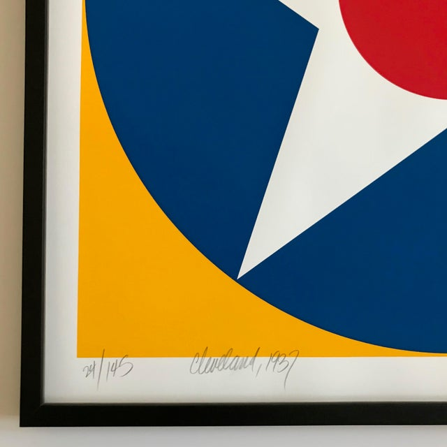 Blue 1975 Chuck Smith Framed Silkscreen Set of 10 For Sale - Image 8 of 12