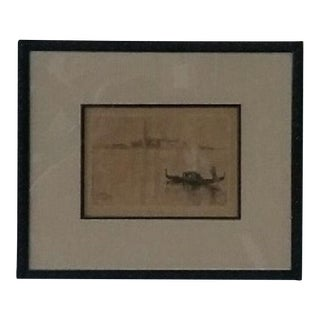 Early 20th Century Venetian Etching For Sale