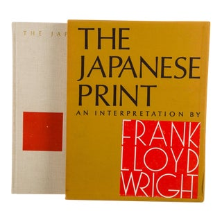 The Japanese Woodblock Print an Interpretation Frank Llyod Wright Book English Coffee Table Book For Sale
