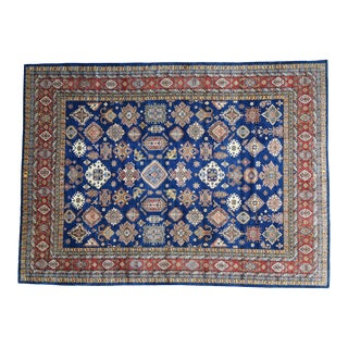Hand-Knotted Super Kazak Wool Rug- 11′10″ × 16′2″ For Sale
