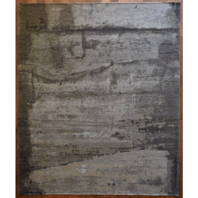 Transitional and Modern Rugs - Bunker Wall Rug (Smoke - 8 X 10) For Sale In Los Angeles - Image 6 of 6
