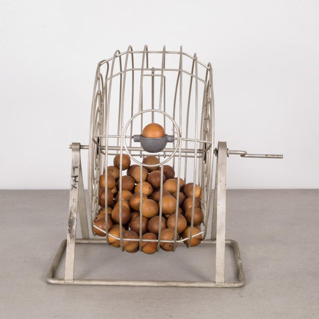 Mid 20th Century Antique Bingo Cage C. 1940 For Sale - Image 5 of 6