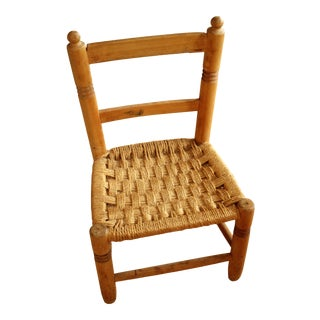 1930s Wooden Children's Chair For Sale
