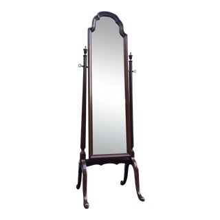 Ethan Allen Georgian Court Cherry Cheval Floor Mirror