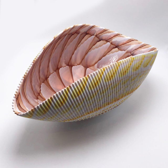 Mid-Century Modern 1970s Large Murano Shell Bowl For Sale - Image 3 of 5