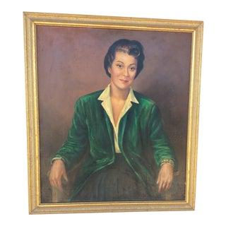 Original Portrait Painting by Paul Lantz For Sale