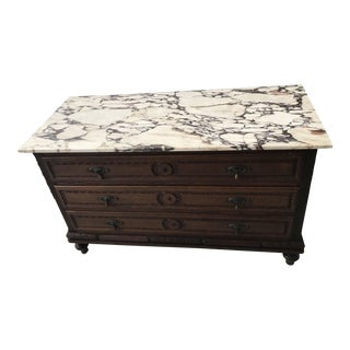 20th Century Neoclassical Marble Top Server Washstand Dresser For Sale