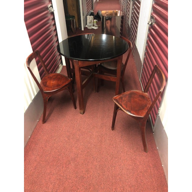 Snug Seat Soda Fountain Chairs & Table - 5 Pieces For Sale - Image 13 of 13