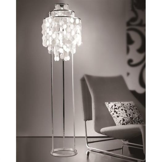 "Pearl 47"" Capiz Floor Lamp - Image 2 of 2"