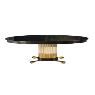 Stunning Art Deco Revival Extension Dining Table by Renzo Rutili For Sale