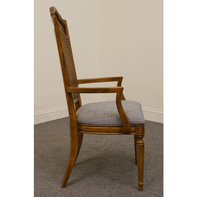Caning Late 20th Century Vintage Thomasville Furniture Romano Collection Cane Back Dining Chair For Sale - Image 7 of 10
