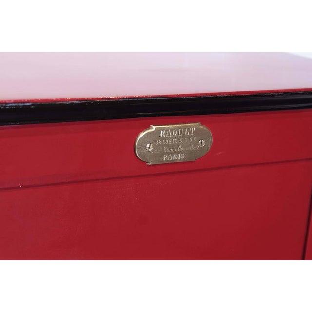 19th Century Parisian Iron Safe Box & Keys - Image 3 of 10